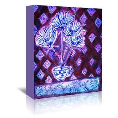 "East Urban Home Flower Cup Painting Print on Wrapped Canvas Size: 10"" H x 8"" W x 1.5"" D"
