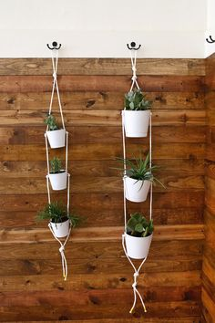 Three-Tier Indoor Rope Planter -- Neat idea to use camping, but not to hold plants. Use to hold utensils, paper towels or wipes, lotions, sunscreen, bug spray, toiletries, etc.
