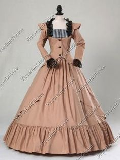 Gothic Victorian Edwardian 3-PC Riding Habit Suit Gown Period Dress Theatrical Steampunk Costume