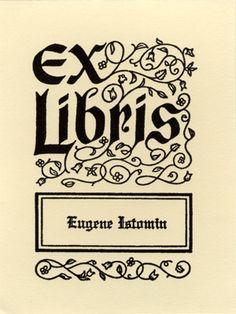 """""""Ex Libris"""""""