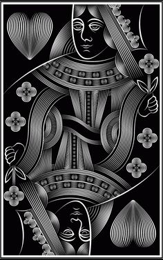 Bēhance: playing cards by patrick seymour playing cards + art = collecting Patrick Seymour, Playing Cards Art, Arte Pop, Heart Cards, Deck Of Cards, Cool Cards, Line Art, Pop Art, Black And White