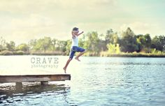 I can totally see Dylan in this type of picture...maybe not jumping off dock but something else?