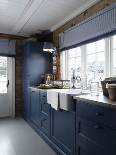 blue cabinets