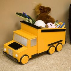 Cute Truck Toy Chest