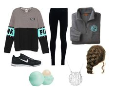 """""""Lazy days"""" by alisa105 ❤ liked on Polyvore featuring NIKE, Initial Reaction and Eos"""