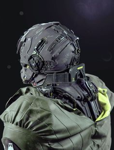 Mike Andrew Nash for a combat mech warrior suit called 21-A BW, which the artist also calls Terran Infiltration Unit