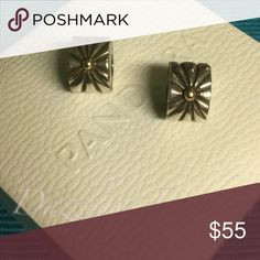 Pandora Sunburst Clips w 14K Gold (2) Authentic and in Excellent condition. Hard box sold separately $3 Pandora Jewelry Bracelets