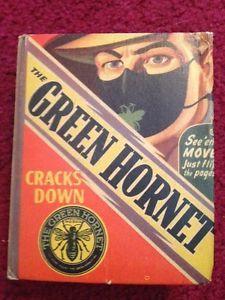 Vintage The Green Hornet Cracks Down Better Little Book No 1480 1942 1st Edition