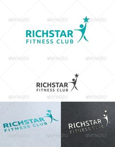 Buy Richstar Fitness Club Logo Template by on GraphicRiver. fitness and sport club Logo Template. Re sizable Vector EPS and Ai Color customizable Fully editable Free font used: . Logo Design Template, Logo Templates, Medical Logo, Club Design, Abstract Logo, Wedding Logos, Sports Clubs, Fitness Logo, Sports Logo