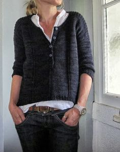 Grasfleckenbylilalu:Lilalu's version of 'Lipstick' by Joji Locatelli ~ great mods...... the cardigan became a jumper, the sleeves all stockinette and lengthened. Read here!