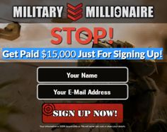 [STOP] Military Millionaire Review-Download Discover How – Make Up To $15,000 TODAY Review-Download: Get Paid $15,000 Just For Signing Up!