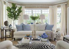 Living room Kate Jackson Design #leeindustries #zebrahide #sisal #linen #figtree #white #grasscloth #wallpaper #interiordesign
