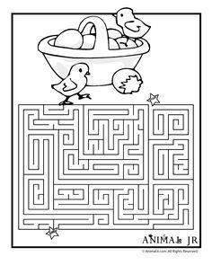 Easter Egg Maze Pages Printable | Printable Easter Mazes Easter Basket Printable Maze – Animal Jr.