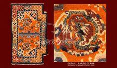 ANTIQUE TIBETAN SADDLE , ANTIQUE CHINESE AND TIBETAN RUGS_141306437172