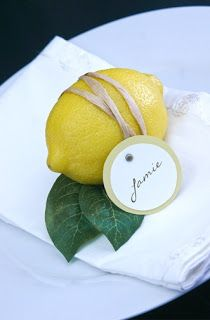 Limoni for placecards! How Amalfi!