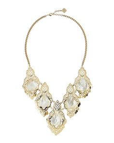 Mother-of-Pearl Valora Necklace by Kendra Scott at Neiman Marcus Last Call.