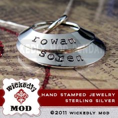 Mother Necklace  Hand Stamped Jewelry  by wickedlymodpendants, $62.00 - I wouldn't mind getting this for mother's day.