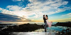 love the sunset colors-------Orange County Engagement | Neel and Supriya