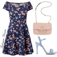 1731d6b18e A fashion look from February 2015 featuring fit flare dress