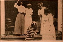 Still from the 1910 silent film Jenks' Day Off. The film is lost.
