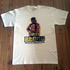 RAMBO - FIRST BLOOD - Mens 1980's Retro Movie T Shirt - Sylvester Stallone