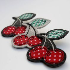embroidered cherry brooch by honeypips | notonthehighstreet.com