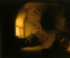 Rembrandt Van Rhine, A PHILOSOPHER IN MEDITATION (1632)