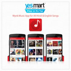 #App on the Top - Wynk  #Wynk is the music app for every mood! From Rahman to Rihanna, it has over 1.8 million songs across Indian and International music. Stream and download songs by genres, moods, artists or simply tune into one of the many Radio channels and let it surprise you. Plus, it's all ad free!Get the latest and greatest hits of Bollywood, English, Indipop, Tamil, Telugu, Kannada, Bhojpuri, Punjabi, Bengali, Malayalam, Gujarati, Marathi & Rajasthani songs.