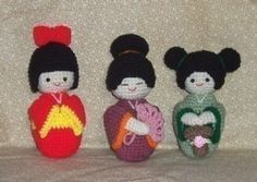 Etsy :: Amigurumi Kokeshi Dolls PDF Crochet Pattern review at Kaboodle