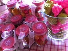 Recycled Baby Food Jars, baby food jars favors, upcycled party favors, do it yourself party favors
