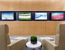 Delta Sky Club - Lounge Chairs & Ottomans