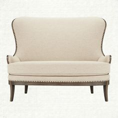 Welcome aboard the Portsmouth. If you like your deconstructed pieces a little less deconstructed, you'll love our Portsmouth Settee. Available at Arhaus. Fabrics made in the USA Furniture Making, Cool Furniture, Living Room Furniture, Comfy Sofa, Vintage Sofa, Upholstered Sofa, Decoration, Dining Tables, Dining Area