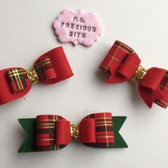 Tartan Christmas Bows