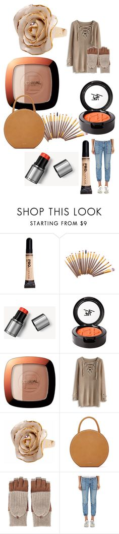 """""""Untitled #199"""" by cchhaanntteell on Polyvore featuring Burberry, Beauty Is Life, L'Oréal Paris, Chicwish, Hop Skip & Flutter, Mansur Gavriel, Carolina Amato and Nili Lotan"""