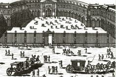 Great Stable of Versailles. The stables of Versailles date from 1679. They were built in the courtyard of the castle, called the Place d'Armes, in two wings facing each other. They are the work of Jules Ardouin Mansard, first architect of the king. © Universität Bern, Zentralbibliothek, Sammlung Ryhiner