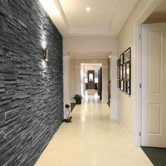 Black Slate Split Face Tiles - Black Slate Split Face Mosaic Tiles by Rock Panels