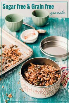 Sugar free and grain-free granola. See how easy it is to make and the 5 big mistakes people make for thinking granola and cereal is healthy.   ditchthecarbs.com