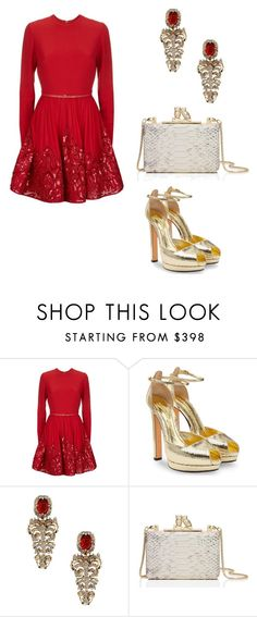 """""""'Tis the season"""" by selmat ❤ liked on Polyvore featuring Elie Saab, Alexander McQueen, Roberto Cavalli and Kate Spade"""