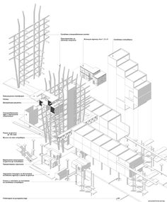Vladimir Dimitrov | Navotas Public Cemetery: Cemetery with Social Housings | Axonometric view | Diploma Project