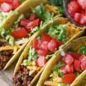 Ground Beef Gyros Recipe, Ground Beef Tacos, Ground Beef Recipes Easy, Beef Recipes For Dinner, Mexican Food Recipes, Crockpot Shredded Beef, Homemade Taco Seasoning Mix, Cilantro Recipes, Beef Pies
