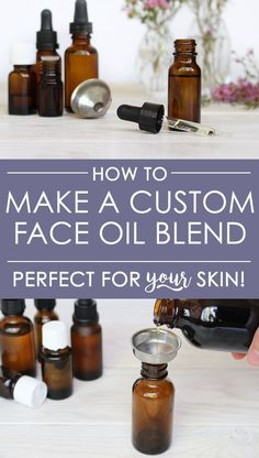 Face oils have totally changed my skin! The best part is: you can make a DIY custom face oil blend perfect for YOUR unique skin. Learn which carrier oils and essential oils are best for you skin + how to combine them + other tips!
