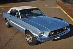 1968 Mustang GT California Special - Brittany Blue with White vinyl top