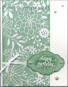 Stampin' Up! Cards – New Year Party - Delightfully Detailed Laser-Cut Specialty Paper, Cake Soirée stamp set and Pretty Label Punch Specialty Paper, Laser Cut Paper, Lazer Cut, Paper Cake, Love Stamps, Card Birthday, Laser Cutting, Abstract Flowers, Die Cut Cards