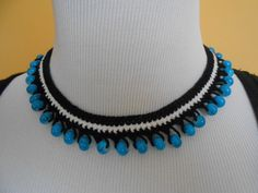Crochet Necklace Crochet Jewelry Handmade by SongulDesigns on Etsy, $9.99