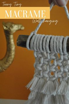 Be crowned top gift-giver this year with this teeny, tiny Macramé wall hanging complete with three tiers of fluffy fringe and woven knots.   Check out the piece on our Etsy, along with the rest of our Macramé minions.  Dance Ballet, Ballet Tutu, Top Gifts, Best Gifts, Little Christmas, Christmas Gifts, Natural Texture, Natural Living, Wall Hangings