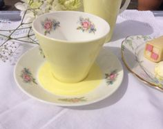 Royal Worcester Ferncroft Vintage tea cup and by MoesVintageChina