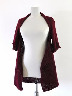 Sweater Cardigan Jacket Tunic Chunky Sweater by reflectionsbyds, $75.00