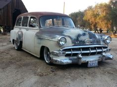 1954 chevy wagon twin turbo lsx eng, bagged cool patina 55 56 57 58 59 60 61 62