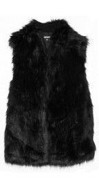 DKNYFaux fur vest