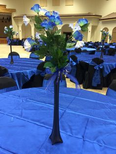 Jasmine Quinceanera centerpiece royal blue and black star theme